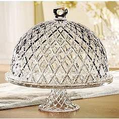 Muirfield Glass Cake Stand With Dome