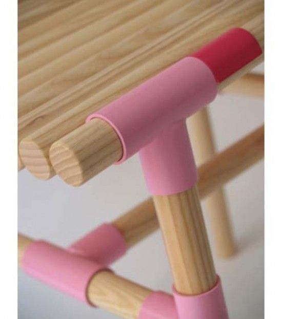wooden stick bench stool 3 e1281208854919 Wooden sticks bench & Stools by WIS Design