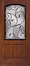 Classic-Craft Rustic, Augustine glass, 2/3 Arch Lite 1 Panel Plank. Therma-Tru Doors: Entry Patio & Light Commercial Doors