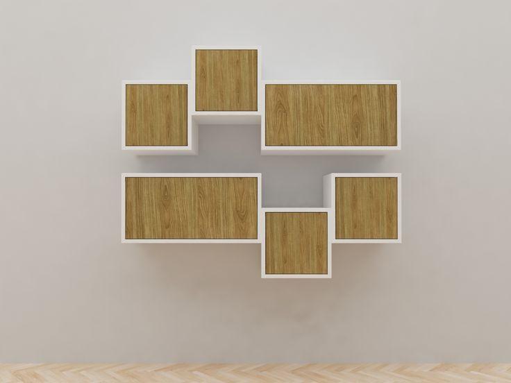 Minimalist modern furniture - Lemari Gantung Kayu Minimalis - White Elegant Teak