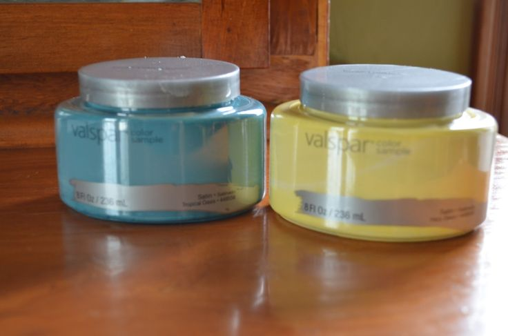 DIY chalk paint made right in sample jar..