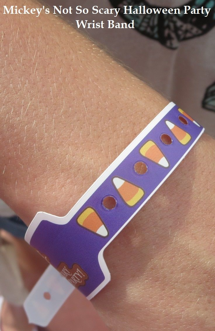 guests with tickets to mickeys not so scary halloween party get special wrist bands that allow - Mickey Not So Scary Halloween Party Tickets