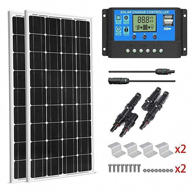 2 Pieces Of Hqst 100 Watt 12 Volt Monocrystalline Solar Panel Slim Design Amazon Com Solar Panels Monocrystalline Solar Panels Solar Design