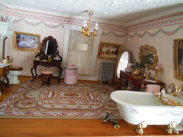 Hofco Federal Victorian Dollhouse Bath Dollhouse