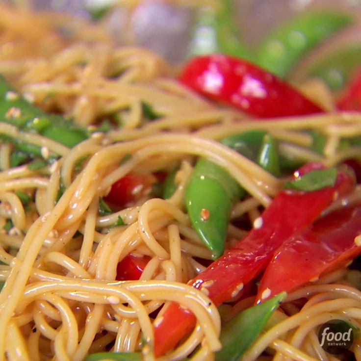 Recipe of the Day: Ina's Crunchy Noodle Salad Ina coats thin spaghetti in a sweet-pungent dressing made from rice vinegar, soy sauce, honey, ginger and peanut butter. Fresh vegetables add color and crunch — fitting for an outdoor gathering.