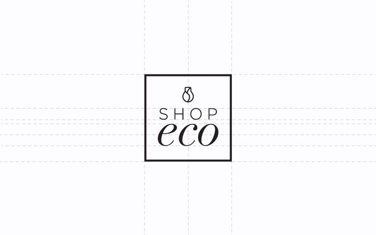 Monograph Design   ShopEco   Branding + Custom Logo Design + Signage