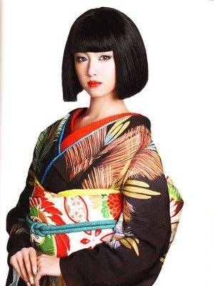 No, the girls don't dress like this in Japan...advertising to try and revive the dying Kimono trade.