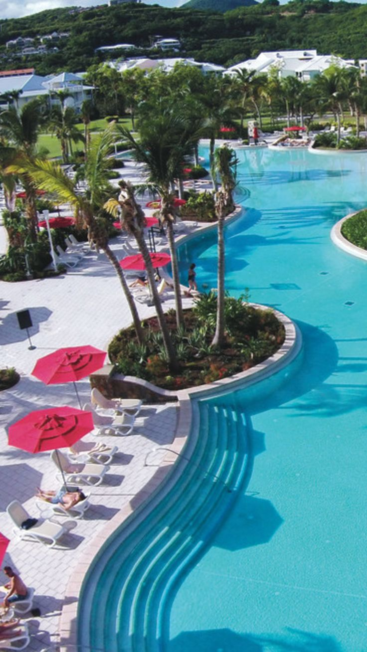 Relaxing by the pool in st martin caribbean vacation with riu hotels resorts