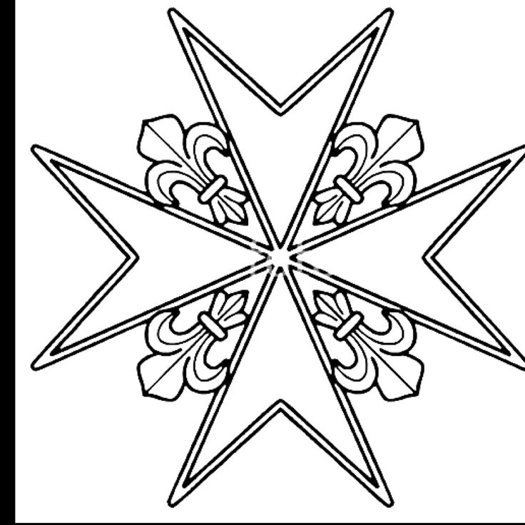 how to draw a maltese cross