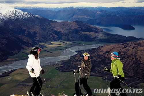 The ON magazine girls at Treble Cone