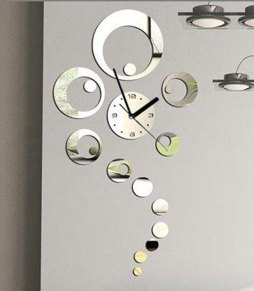 decoración pared, reloj incluido