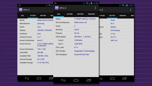 CPU-Z Tells You Everything About Your Phone's CPU, Battery, and More (Android)