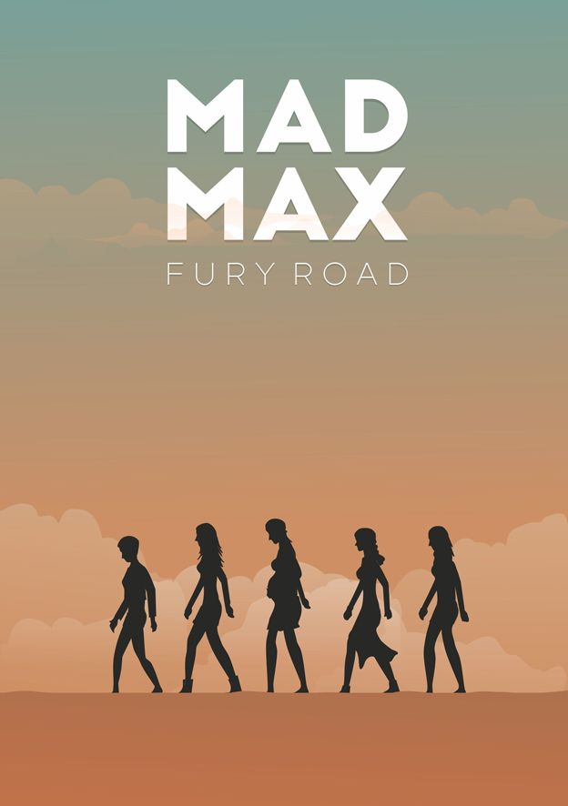 Mad Max: Fury Road (2015) ~ Minimal Movie Poster by maspoko ~ Oscars 2016 Nominees #amusementphile