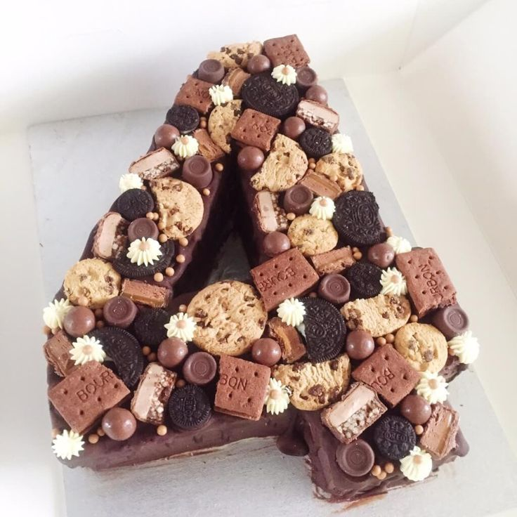 Choco cookie number cake number birthday cakes number