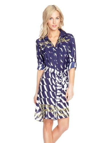 GUESS by Marciano Sailor Scarf Shirtdress, MULTICOLORED (XS)