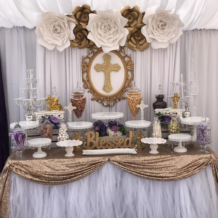 Dessert Table First Communion Party First Communion Decorations Communion Decorations