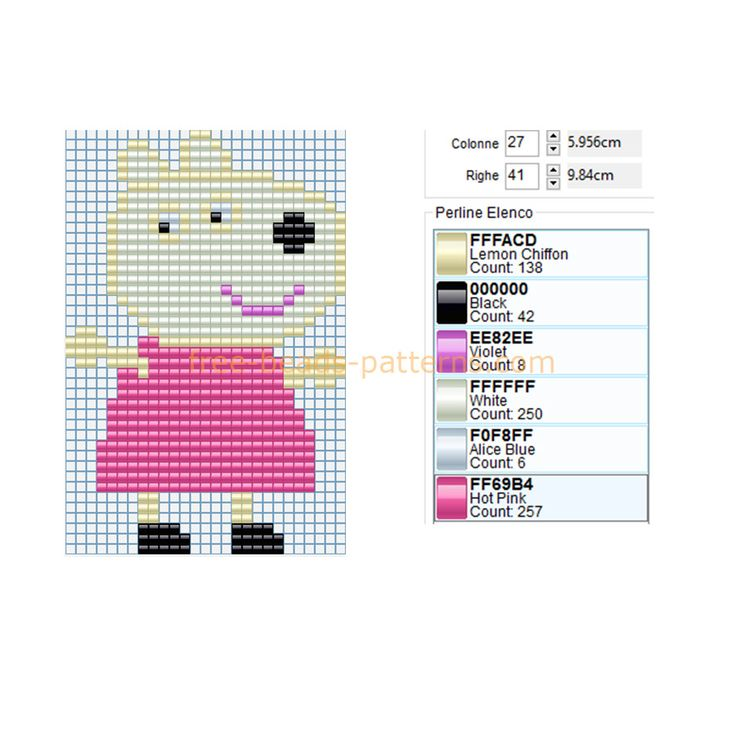 9 best peppa pig punto croce images on pinterest punto croce cross stitches and embroidery - Fusee peppa pig ...