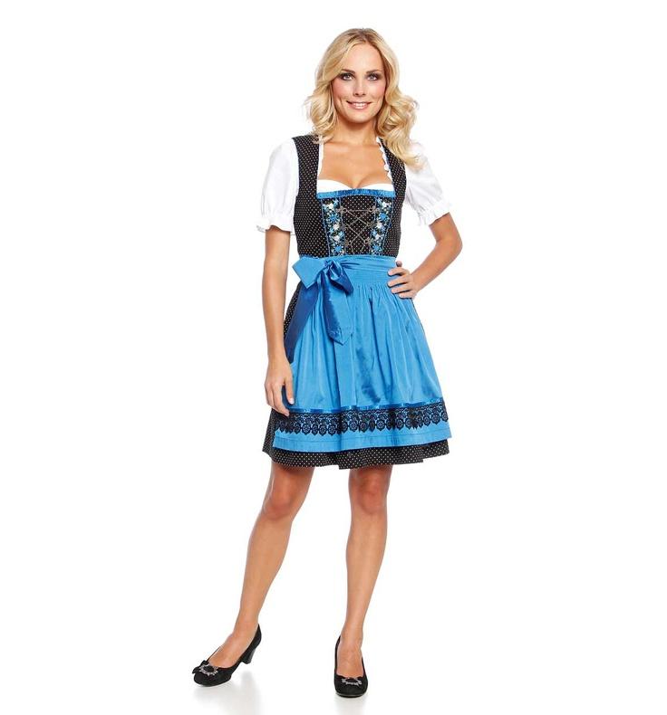 dirndl black blue mode kleidung modestil