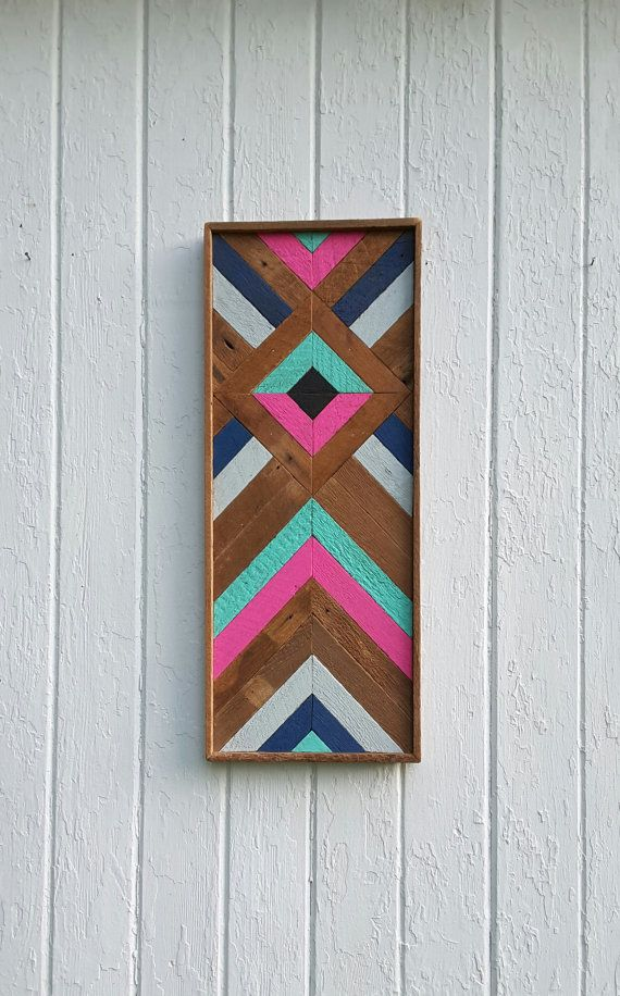 Wall Art Wood best 25+ chevron wall art ideas on pinterest | canvas crafts