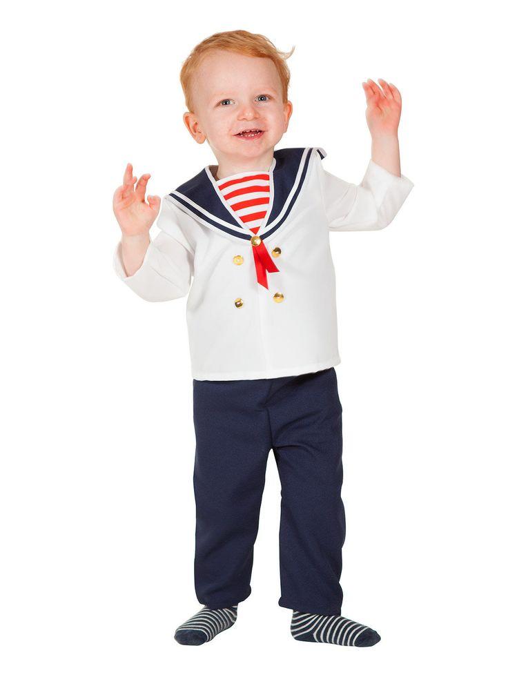 Kleiner Matrose Babykostüm Seefahrer weiss-blau. Aus der Kategorie Baby Karnevalskostüme. Ahoi Matrosen! Wenn dieser süße Seefahrer über die Meere segelt, werden selbst abgebrühte Piraten dahinschmelzen. Ein Faschingskostüm für Kleinkinder, das die Blicke scharenweise auf sich zieht.