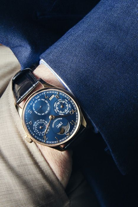 IWC mechanical watch. More about mechanical watches @ http://www.moderngentlemanmagazine.com/big-comeback-of-mechanical-wristwatch/