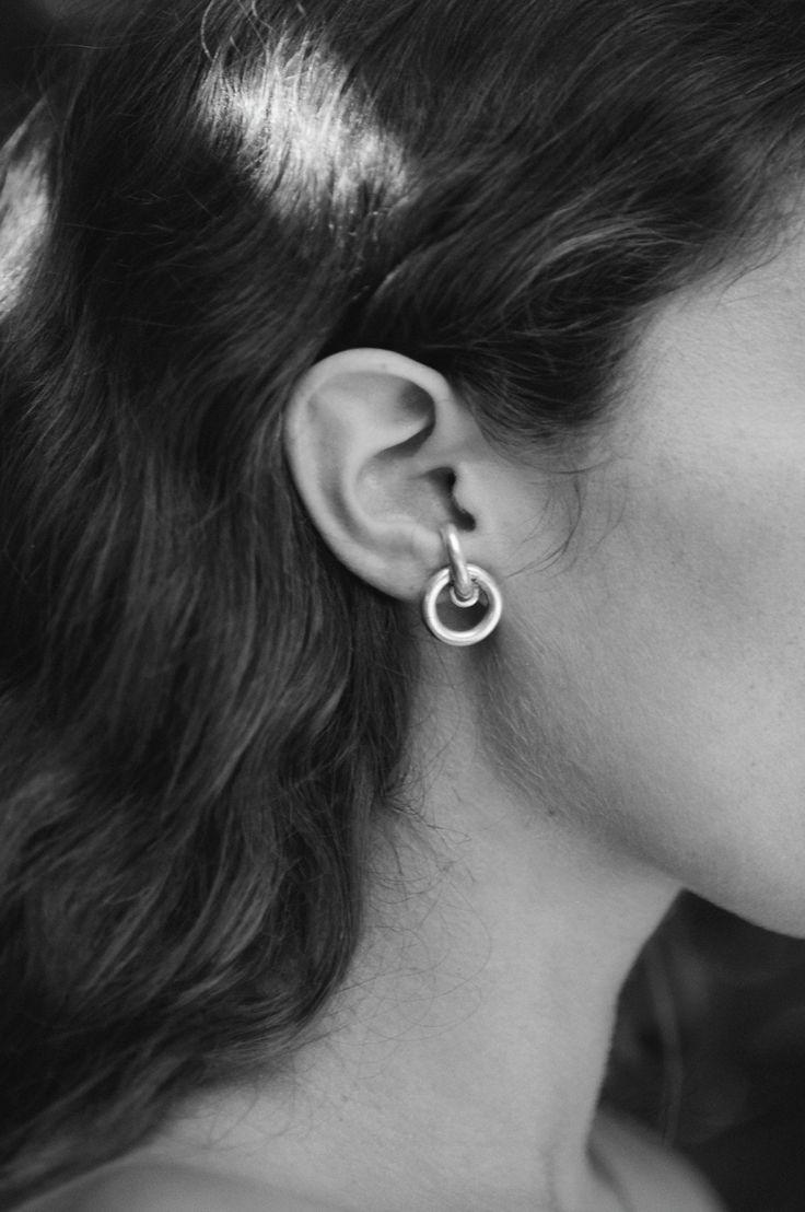 Sophie Buahi - LOBE EARRINGS (Seen on the model here: http://www.garancedore.com/2016/10/17/the-edit-no-5-part-3-manteau-militaire)
