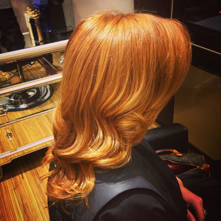 Strawberry blonde Marissa Herdon at Jem hair studio @jemhairstudio1 orlando Florida