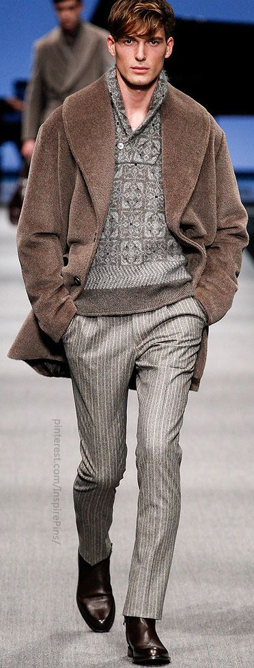 Fall 2014 Menswear Canali  Lose the strange coat and we have ourselves a winner.