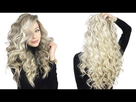 How to: Voluminous Curly Hair Tutorial - YouTube