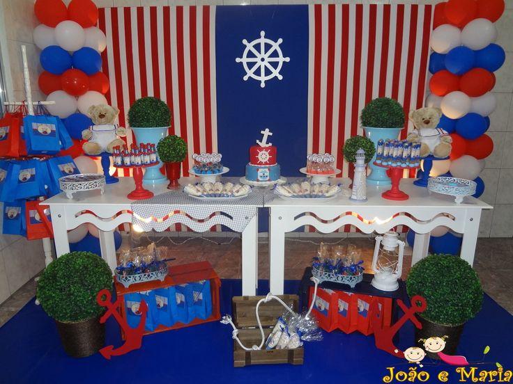 Decoração Provençal Ursinhos Marinheiros   Fazendo Artes Festas   Elo7