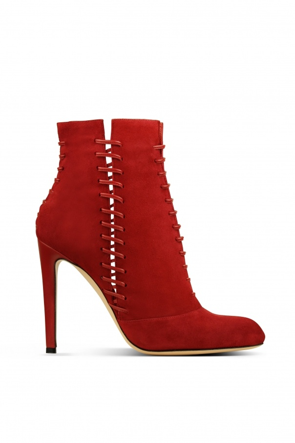 GIANVITO ROSSI, AW10 RED SUEDE ANKLE BOOT: foxy frankenstein.