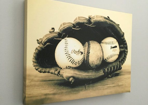 This Vintage Baseball In A Glove Will Make Great Focal Point Your Baby Room Nursery Or Man Cave Image Grow With Little Boy And Stay