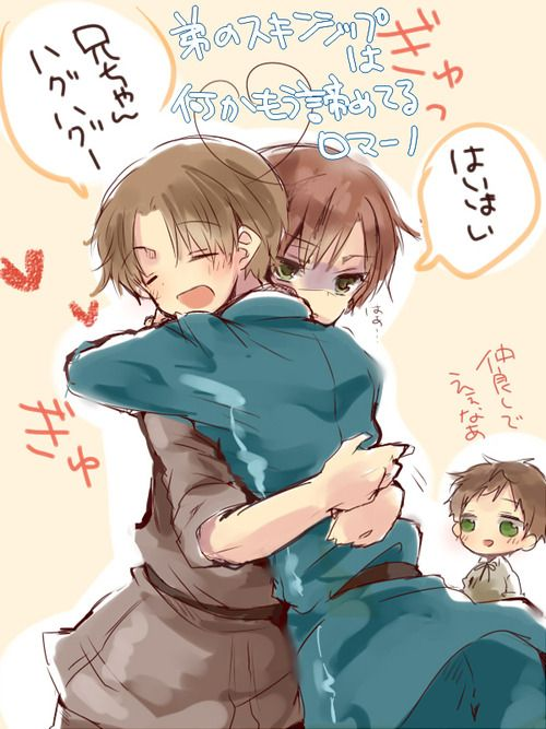 Hetalia, Italy Venecciano and Italy Romano 【腐】西ロマまとめました by ゆらね Permission to repost given by artist.