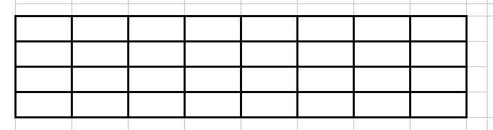Whether you are doing a traditional or square foot garden, having a plan helps everything run more smoothly. Here is a simple outline for creating your square foot garden plan. I love using Excel, but you can use graph paper or just plain old paper! Step 1: Draw an outline of your garden. I'm going