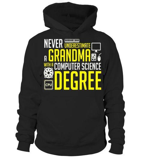 Tshirt  Grandma With Computer Science Degree - Funny Grandma Shirt  fashion for men #tshirtforwomen #tshirtfashion #tshirtforwoment