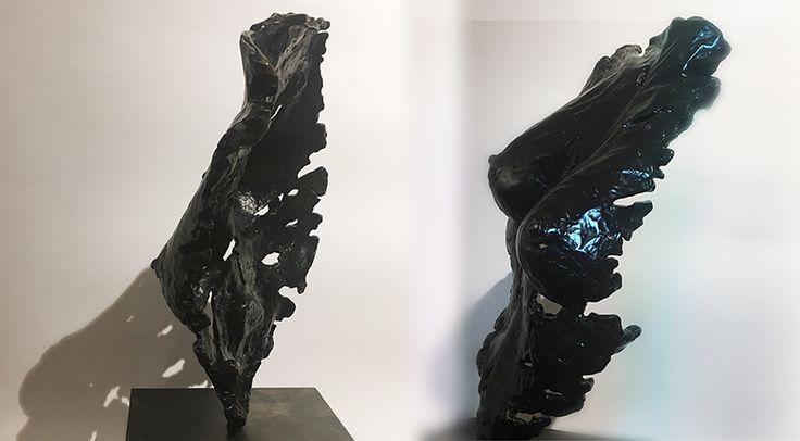 ETERNA, 2017 bronzo cromato nero, esemplare unico, Elena Rede