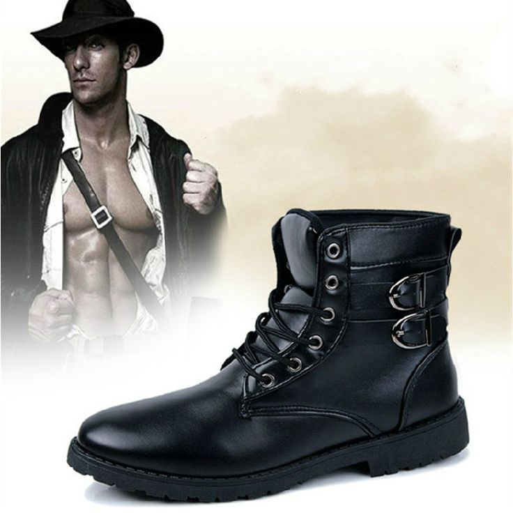 2016 Autumn and Winter New Men Shoes Fashion Trend Casual Male Martin Boots Retro Style Non-slip Lace Up Leisure Male Boots