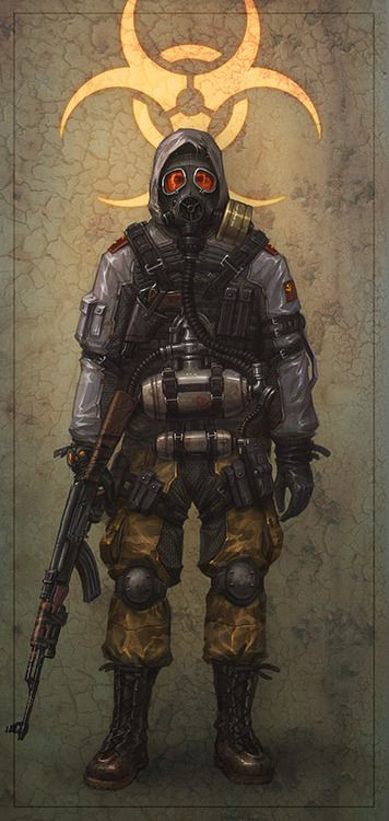 ... and they shall bear the devil's symbol, 3 pairs of horns within a circle    ripperdoc:    postap soldier by Banderlog - Artyom Vlaskin - CGHUB