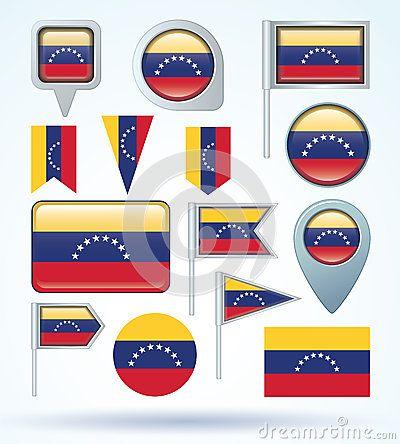 Sistema de la bandera de Venezuela, ejemplo del vector
