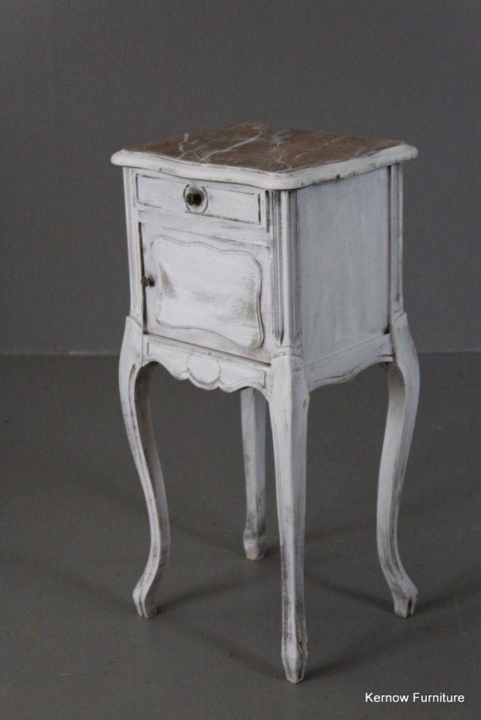 Painted French Bedside Cabinet Bedside Cabinet Antique French Furniture Antique Bedroom Furniture