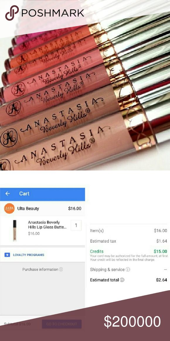 Anastasia Beverly hills lip gloss This is a $15 OFF COUPON CODE POST!  Hey guys! I'm sharing an amazing deal that I found on Google express shopping???? They have stores like ulta, target, walgreens & more! Use code 5KK24949T you will get $15 off your first order (and if you sign up for a free trial membership that can be canceled anytime, you will get free shipping too!) This ABH gloss will only be $2.64 (with tax)!! This deal is too amazing to not share! Go treat yourself :) *this listing…