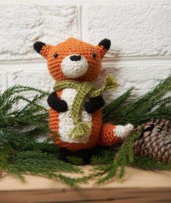 Patron Amigurumi Crochet : Renard en Hiver – Made by Amy