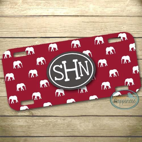 Personalized License Plate  Car Tag  Alabama  by StateofHappiness, $16.95