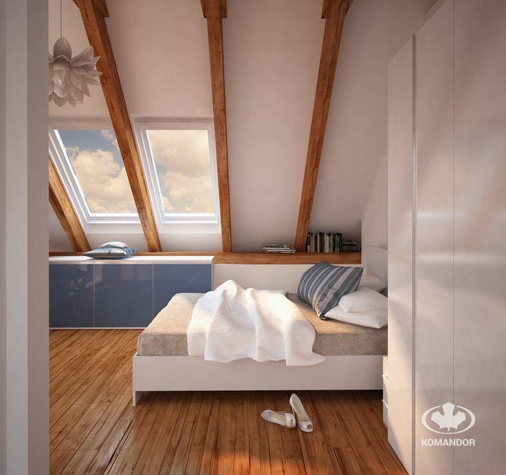 Aranżacja małej sypialni na poddaszu