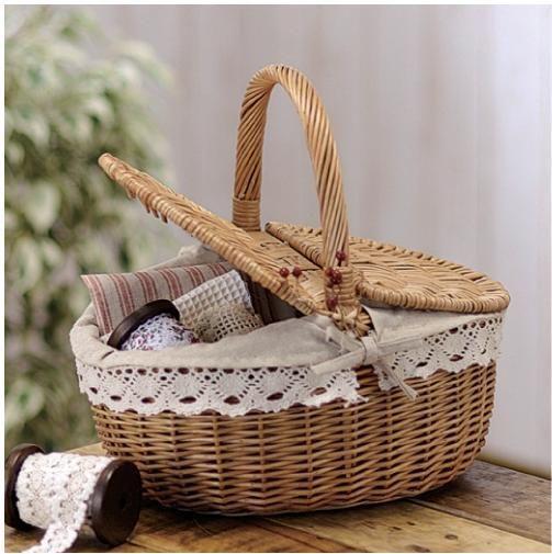 Dales más de un uso - #Canasta de #mimbre para #picnic