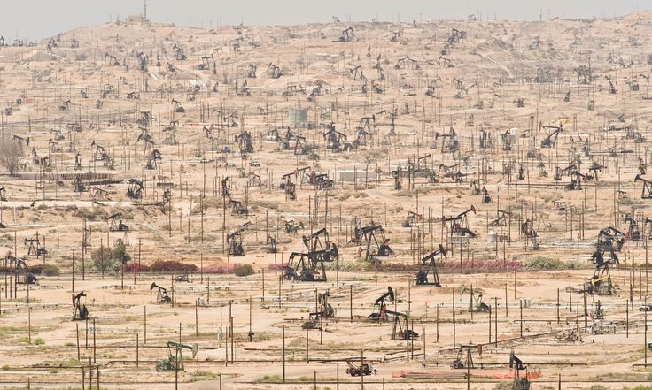 Oil wells Depleting oil fields are yet another symptom of ecological overshoot as seen at the Kern River Oil Field in California Photograph: Mark Gamba/Corbis