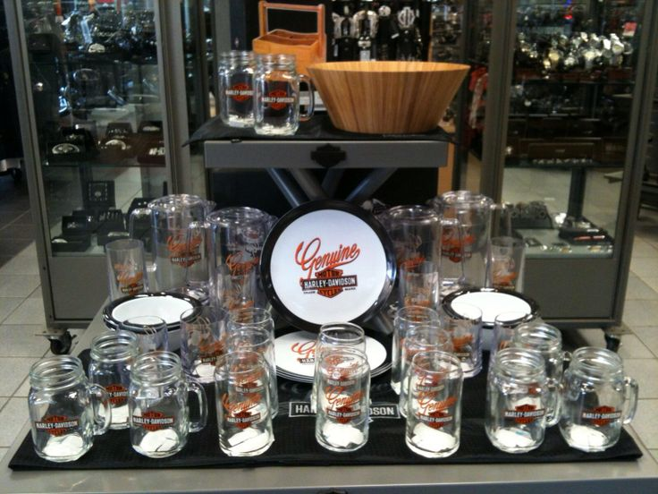 Harley Davidson Dinnerware Work Display Ideas