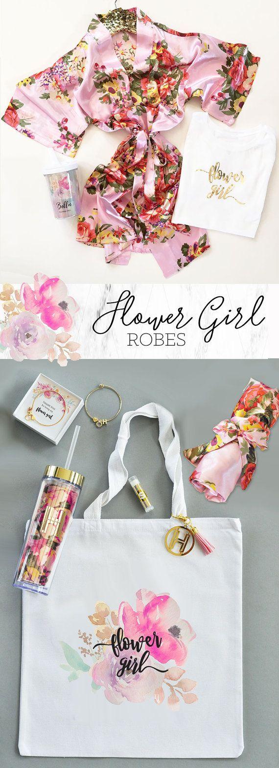 Flower Girl Robes  Flower Girl Gift Ideas  Girls Robe  by ModParty