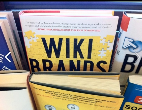 Wikibrands Book peaking out