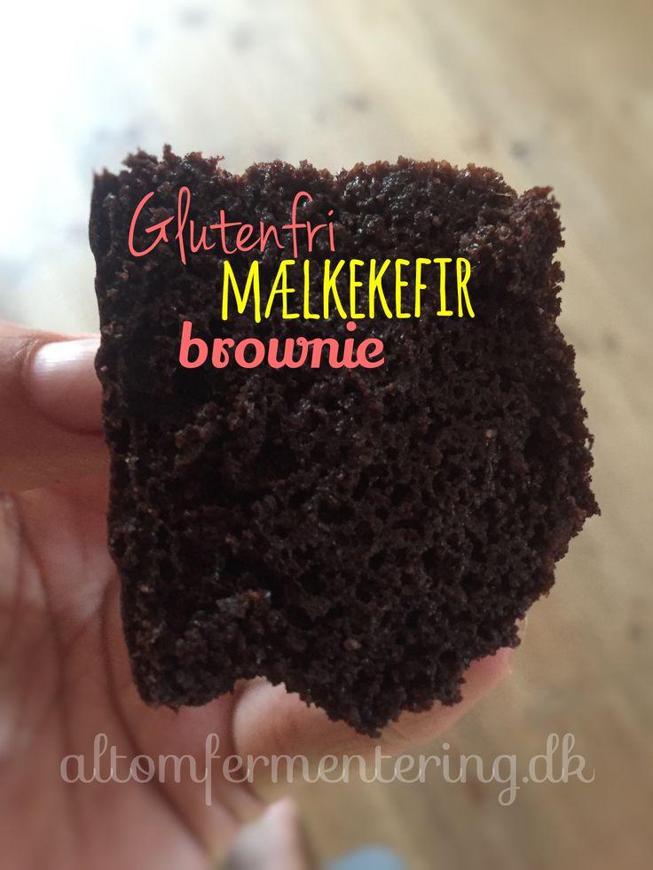 Glutenfri mælkekefir brownie